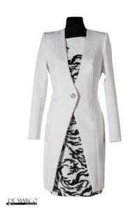 śmietanowy płaszcz do sukienki, na wesele
