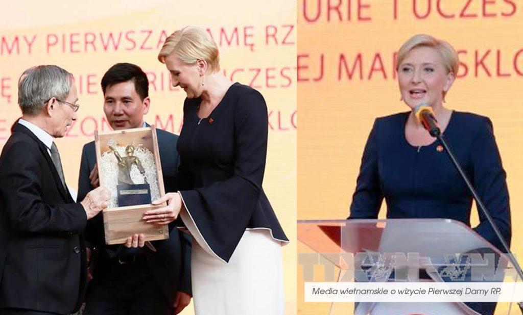 Najpiękniejsza garsonka Agaty Dudy. Pierwsza Dama polski urzeka wietnamskie media.