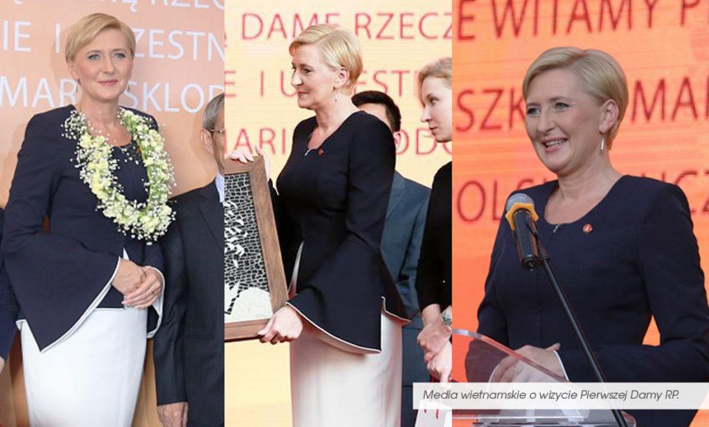 Pierwsza Dama Polski z wizytą w Wietnamie. Agata Duda to polska Diana.