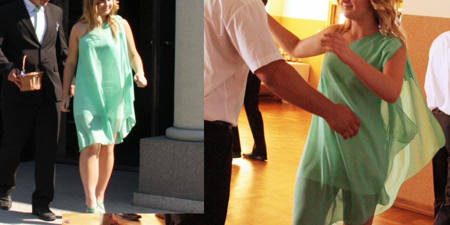 Lekka i przewiewna sukienka na wesele