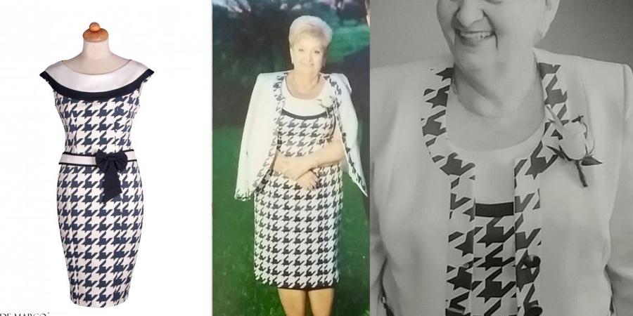 Sukienka koktailowa z żakietem szyta na miarę we Frydrychowicach