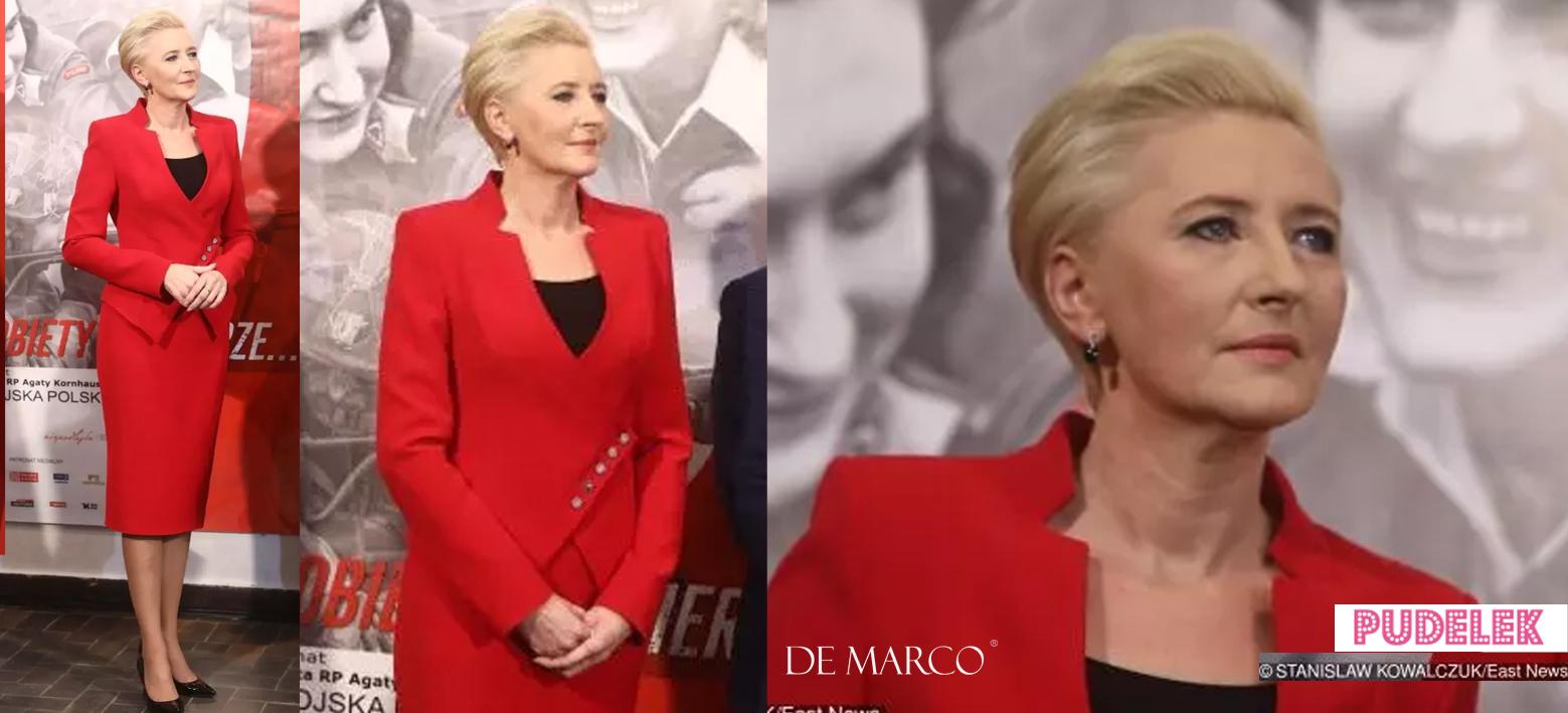 Agata Duda w czerwieni otwiera wystawę o kobietach-żołnierzach