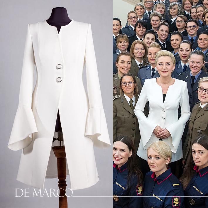 Prezydentowa z kobietami w mundurach.