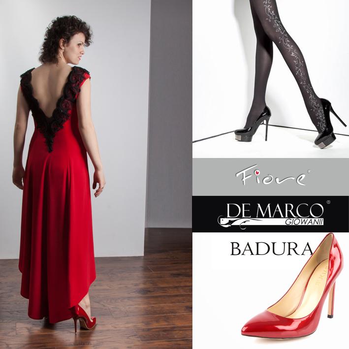 suknie wieczorowe, De Marco, Badura, Fiore