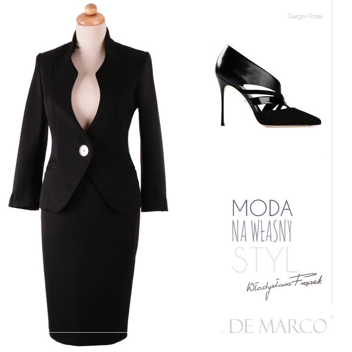 kostiumy do biura od projektanta mody,De Marco,  Sergio Rossi