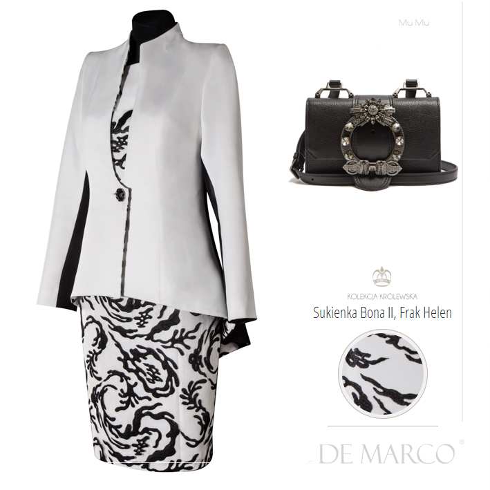 sukienki garsonki kostiumy na wesele, Miu Miu, De Marco
