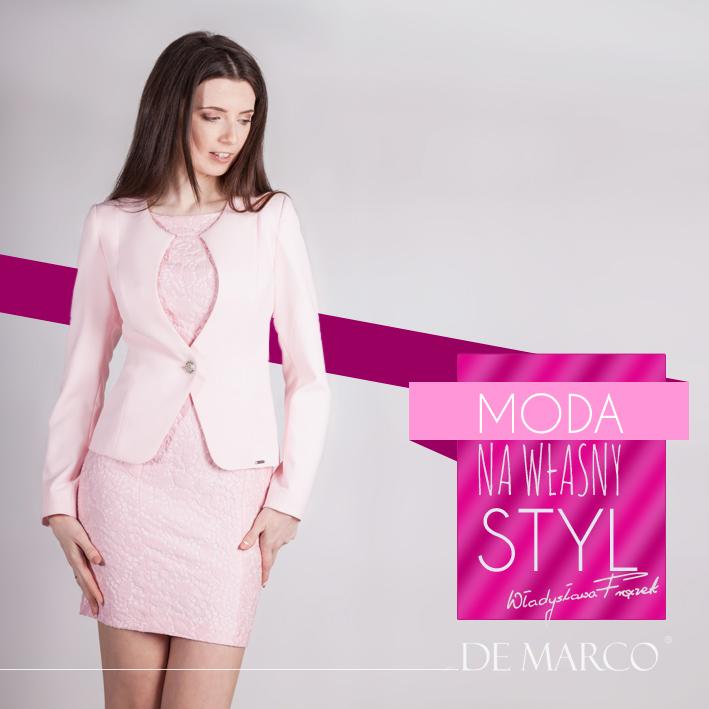 sukienki z żakietem, De Marco Moda na własny styl