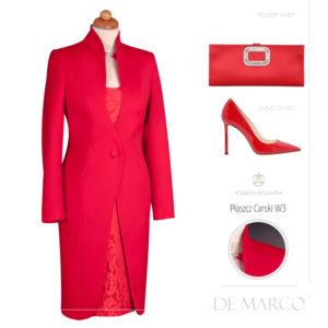 elegancki królewski płaszcze do sukienki na wesele. Modna stylizacja dla mamy.