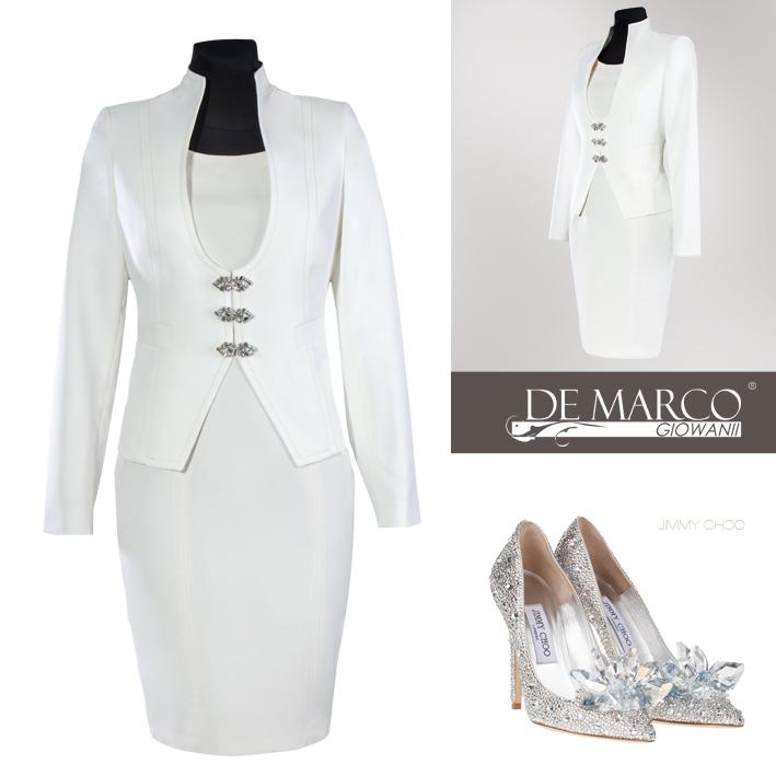 Luxury żakiet do sukienki ślubnej, Jimmy Choo, De Marco