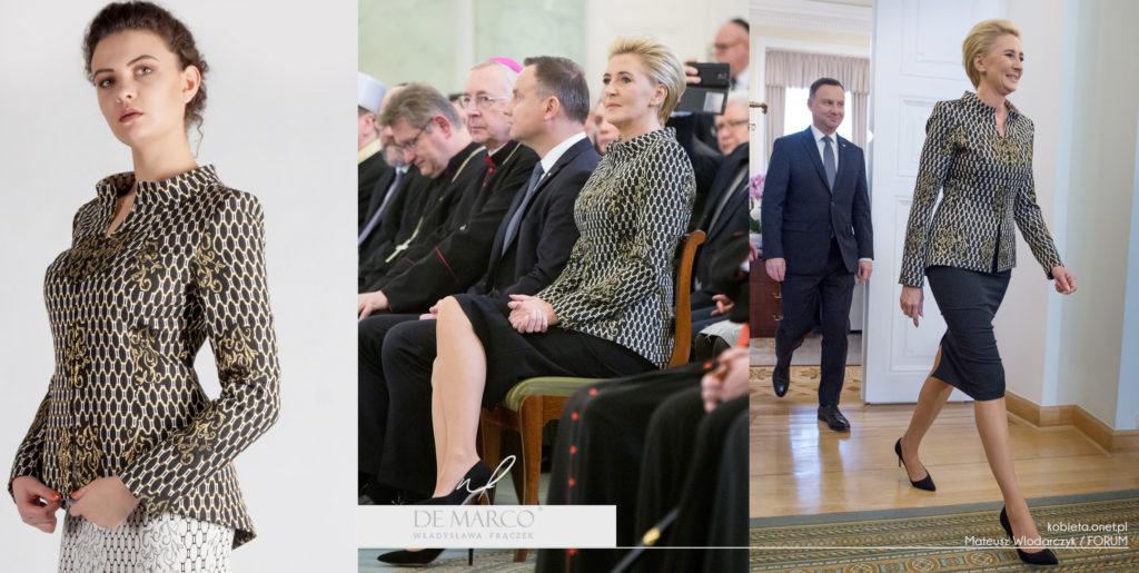 Projektantka ubrań Pierwszej Damy Agaty Dudy Władysława Frączek, De Marco z Frydrychowic