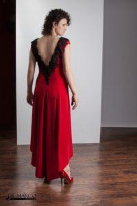 modna sukienka na wesele szyta na miarę w De Marco Władyszława Frączek.