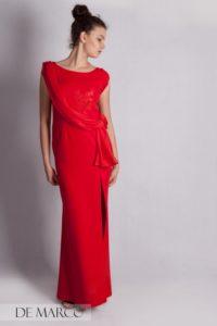 Piękna długa sukienka na wesele,szyta na miarę w De Marco