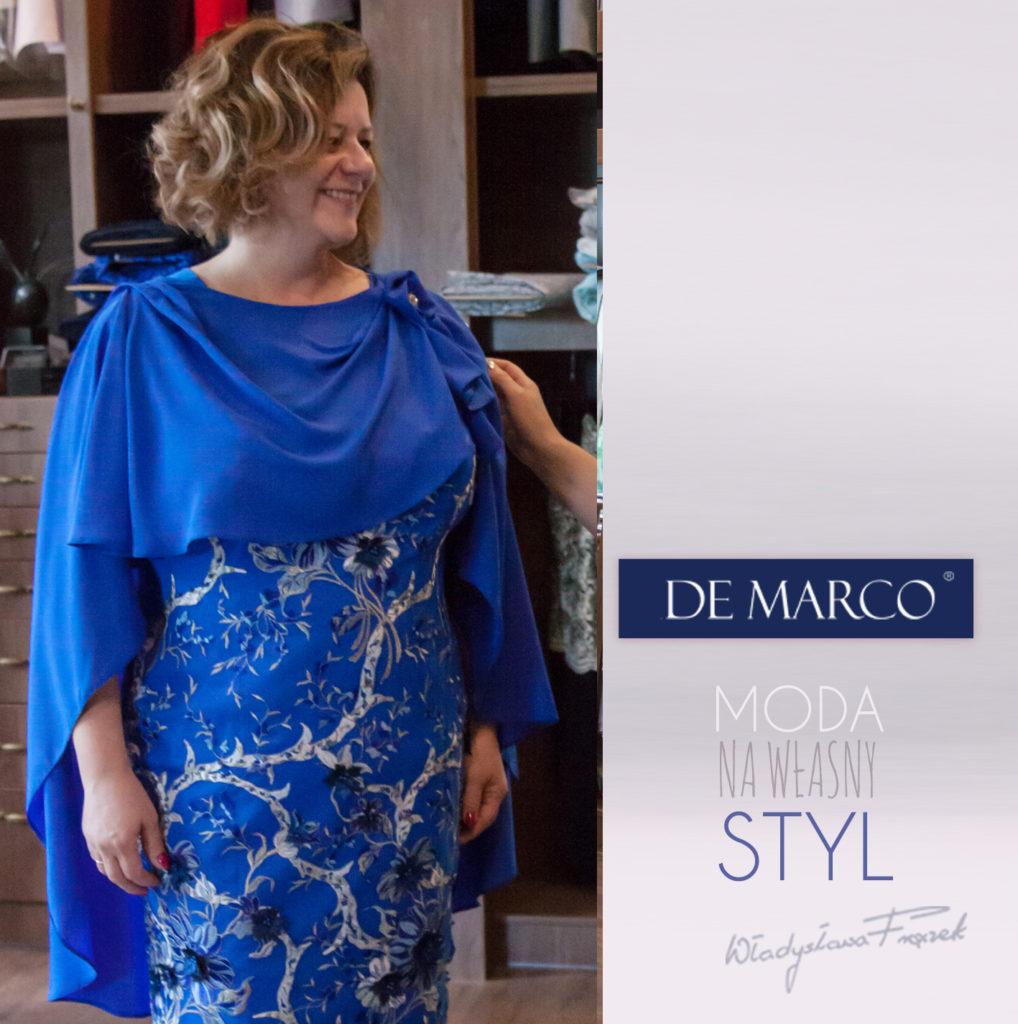 Sukienka szyta na miarę w De Marco z Frydrychowic.