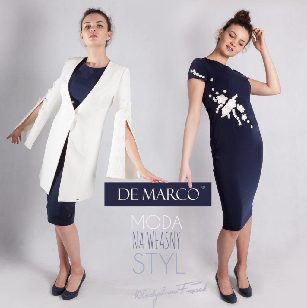 De Marco sukienki, kostiumy damskie wizytowe, garsonki, suknie, żakiety, marynarki, płaszcze szyte na miarę.