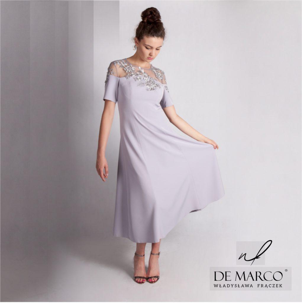 45cfe7a3d6 Eleganckie sukienki na wesele dla mamy zamów szycie na miarę on-line. Sklep  internetowy