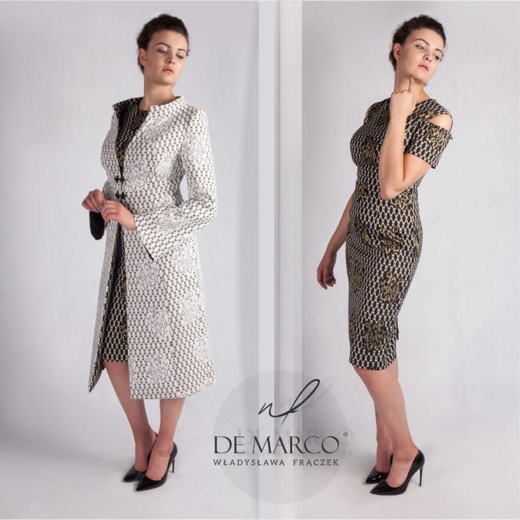 cfd4510fb8 Komplet sukienka z płaszczem dla mamy wesela. Szycie na miarę u  projektantki z Małopolski Władysławy