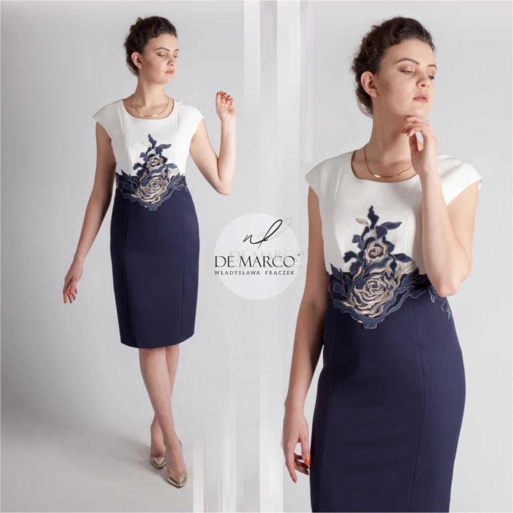 Optycznie wyszczuplająca i rozświetlająca sukienka na wesele dla mamy pana młodego lub pani młodej. Najpiękniejsze sukienki na wesele od projektantki. Sklep internetowy z ekskluzywną odzieżą damską.