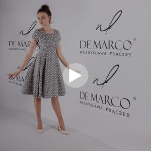 Sukienka princeska dla mamy wesela. Figura gruszka, szycie na miarę ekskluzywnej odzieży damskiej w De Marco. Zamów sukienkę w sklepie internetowym.