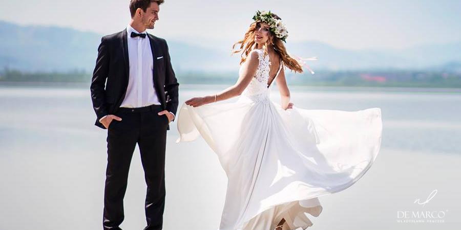 Najpiękniejsze oryginalne suknie ślubne szyte na miarę u projektantki ubrań Pierwszej Damy.