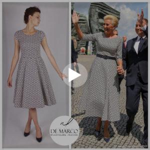 Zobacz jak wyglądała prezydentowa Agata Duda w sukience od projektantki mody ekskluzywnej W. Frączek.