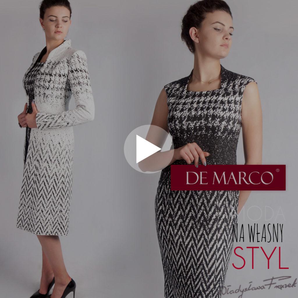 Płaszcze, garsonki, sukienki i kostiumy dla eleganckich 40-latek. Sklep internetowy z kompletami i sukienkami dla mamy wesela. Salon Mody De Marco. W tej firmie ubiera się pierwsza Dama Agata Duda.