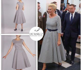 Pierwsza Dama Polski Agata Kornhauser-Duda po raz kolejny w sukience z De Marco.