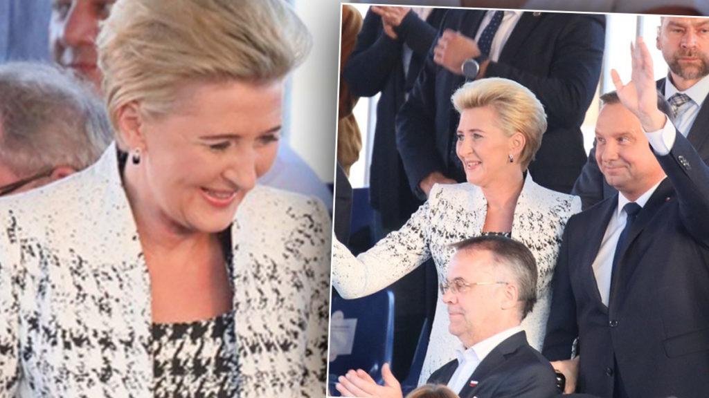 Elegancki wizytowy płaszcz z sukienką. Pierwsza dama w stylizacji W. Frączek z Frydrychowic. Zapraszamy do sklepu internetowego De Marco, obejrzyj nową kolekcję marki, w której ubiera się Pierwsza Dama.