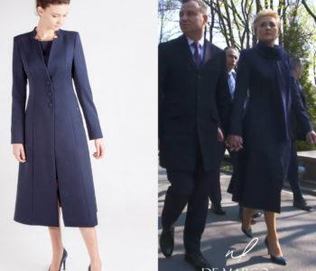 Elegancki płaszcz do sukienki z De Marco. W tym sklepie ubiera się Agata Duda.