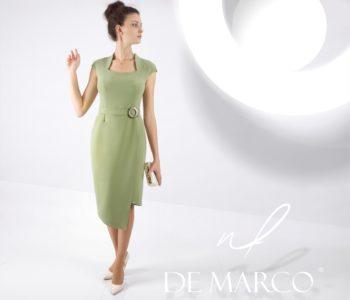 Kolor oliwkowy w sukienkach biznesowych.