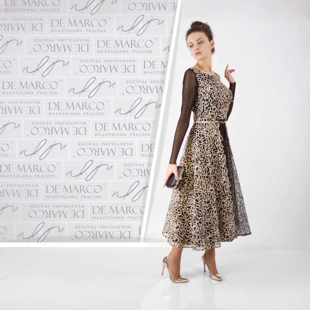 Suknie w królewskim stylu na wesele, bal i sylwestra. Ekskluzywna sukienka dlamamy weselnej. Sklep De Marco.