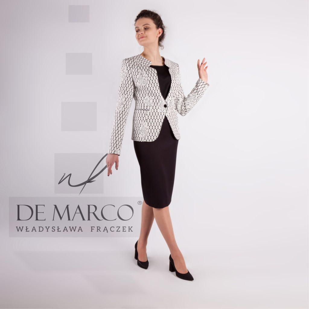 Kostiumy wizytowe. Polska markowa odzież dyplomatyczna dla kobiet.