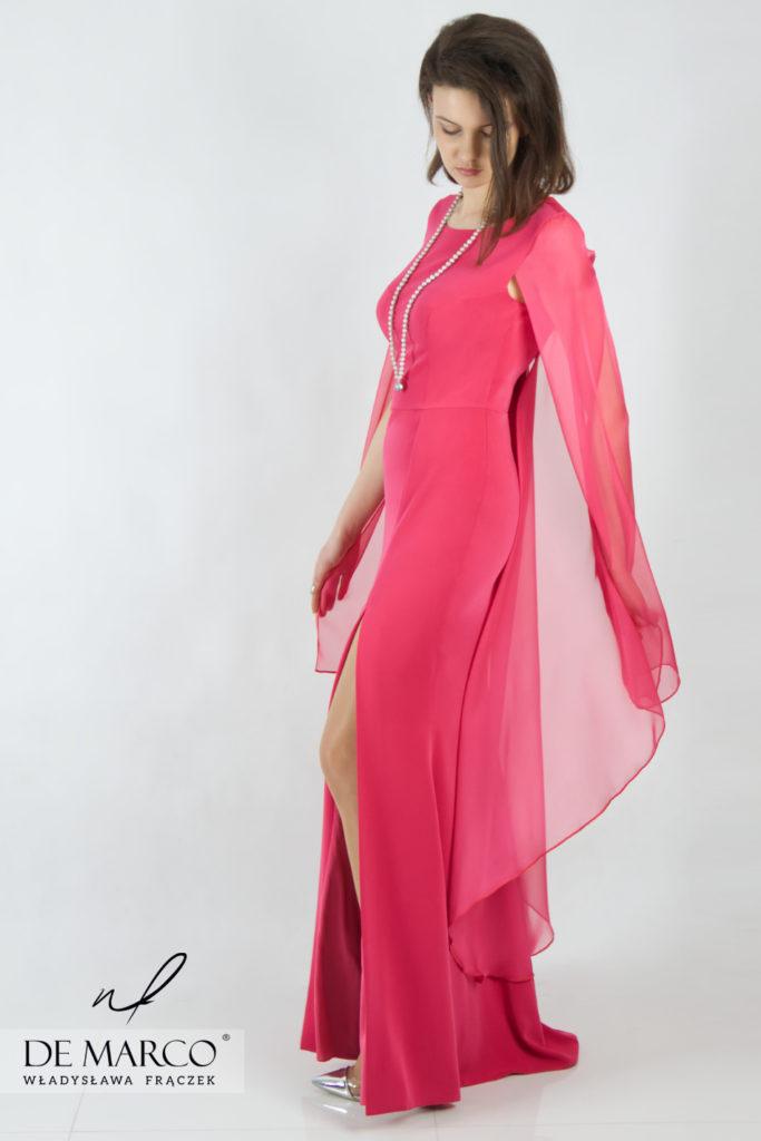 Najpiękniejsza rózowa suknia na wesele dla mamy. Sklep internetowy De Marco
