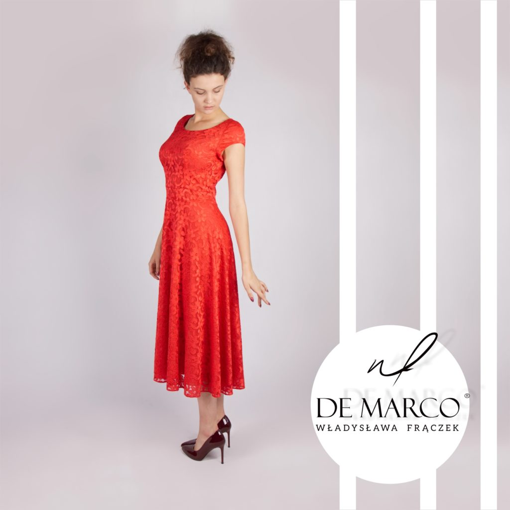 Koronkowa sukienka na wesele szyte na miarę u projektanta z De Marco