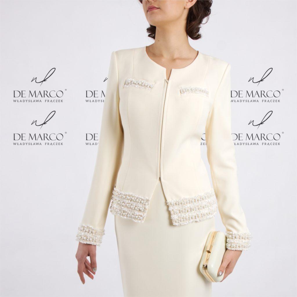 Wyzytowe garsonki i kostiumy damskie typu Chanel