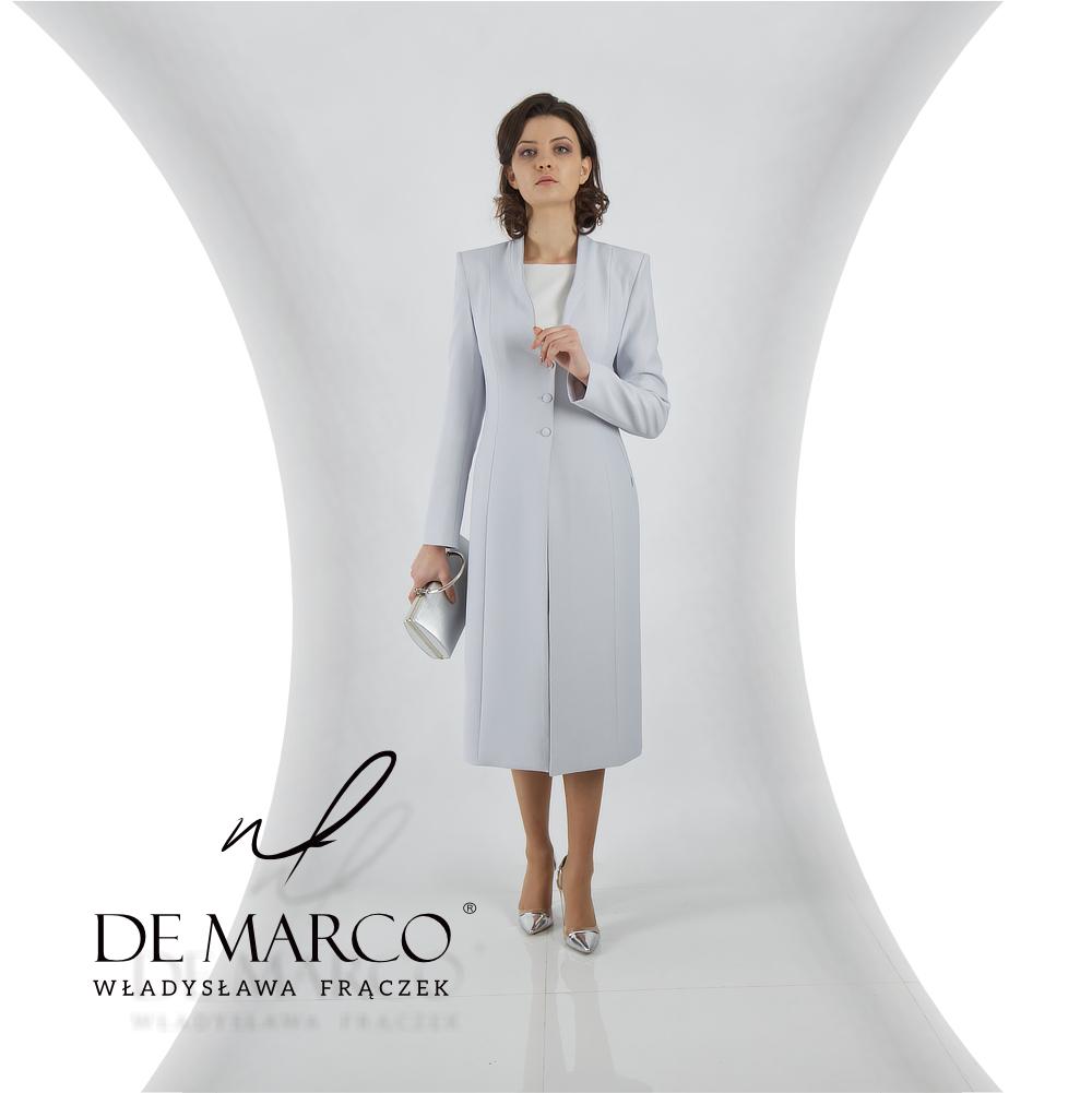 Elegancki płaszczyk do sukienki szyta na miarę w De Marco.