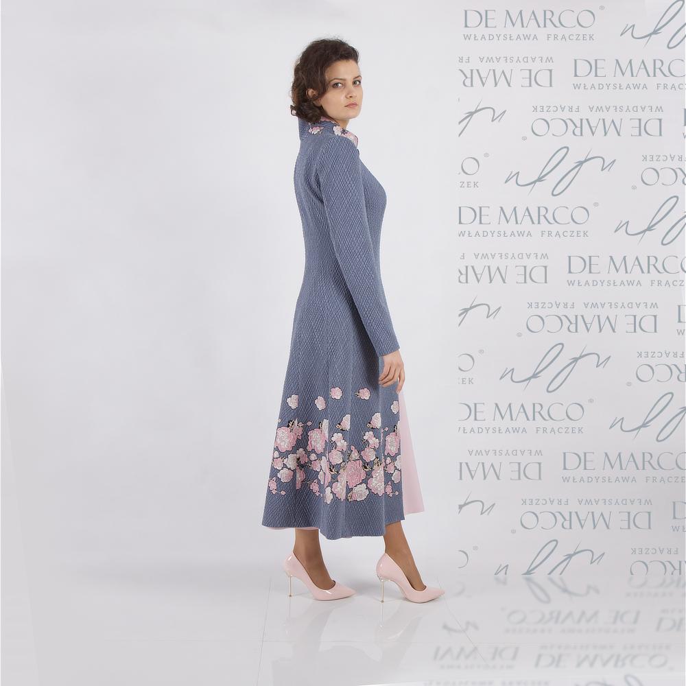 Ozdobny elegancki płaszcz do sukienki, sklep internetowy De Marco