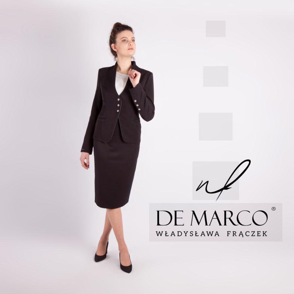 Biznesowy kostium damski z De Marco