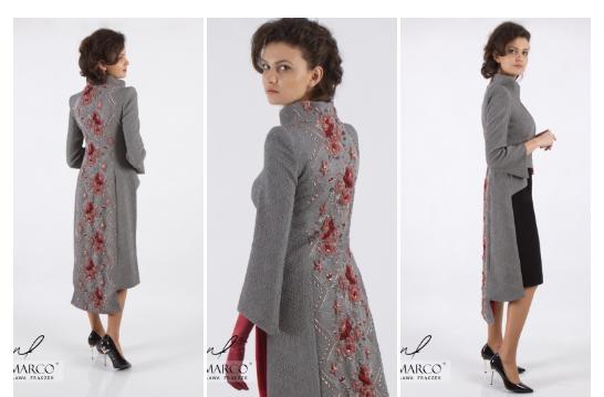 Oryginalne ubrania dla kobiet  płaszcze od projektantki Władysławy Frączek.