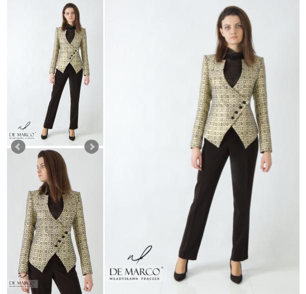 ekskluzywny garnitur damski De Marco