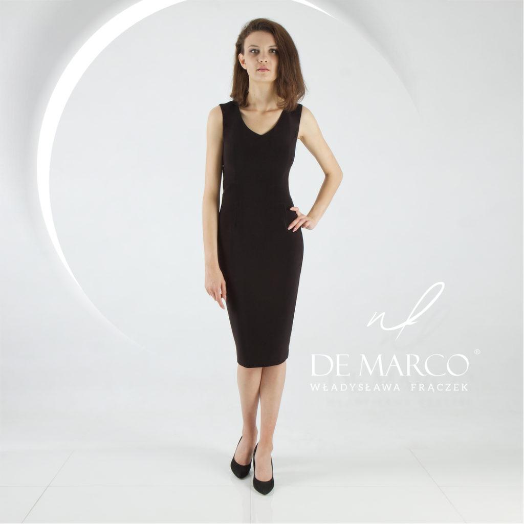 """Ekskluzywna ponad czasowa klasyczna sukienka """" Mała Czarna"""" z De Marco"""