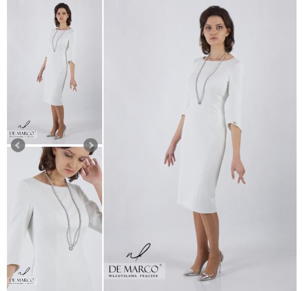 biała sukienka wizytowa